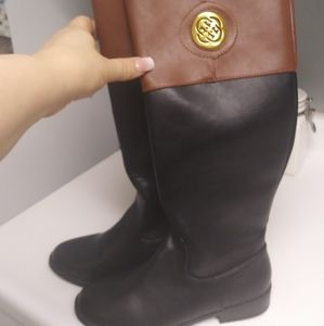 Tall black and brown boots size 7